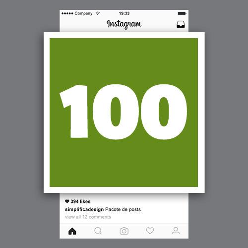 Pacote de 100 posts