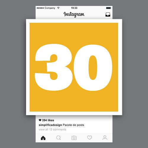 Pacote de 30 posts