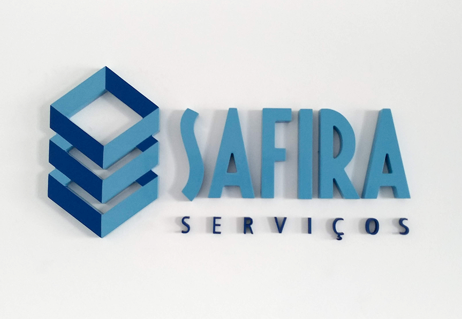Letra Caixa Frontal - Safira