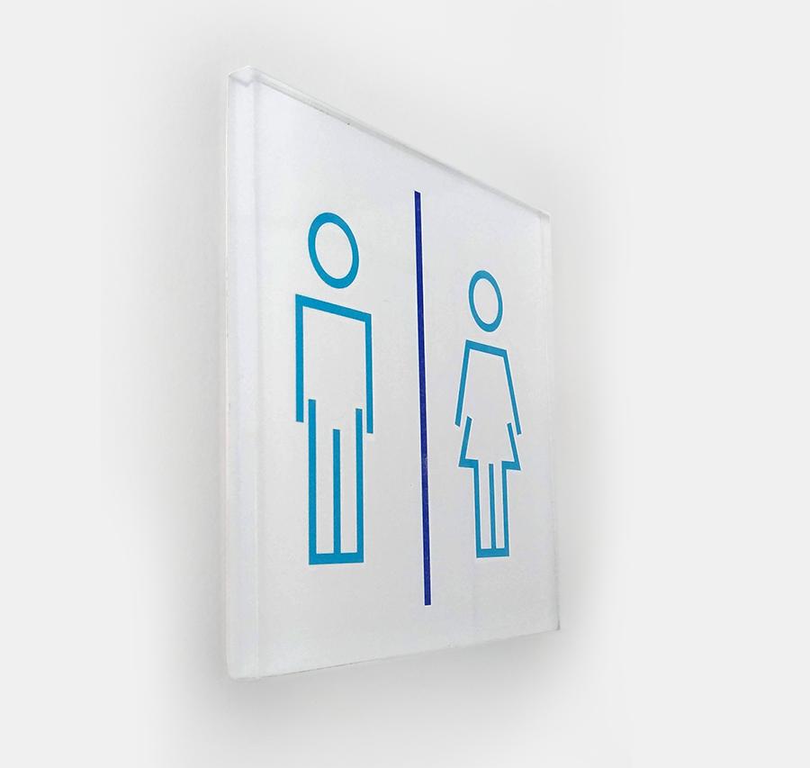 Placa indicativa de sanitários - Safira Serviços